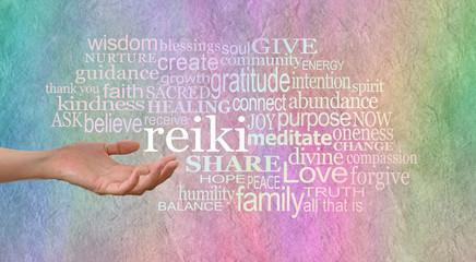 Sending out reiki healing energy