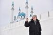 Man making selfie in Kazan, Russia