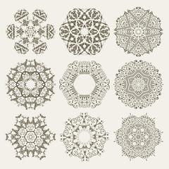 Guilloche Floral Elements