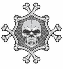 skull and crossbones frame