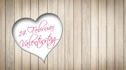 Valentinstagserinnerung durchs Holz