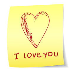 I love you paper note
