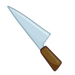 knife isolated illustration