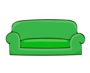 sofa isolated illustration
