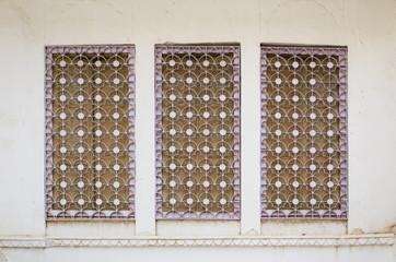 Window with curved steel ornamental in jodhpur