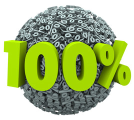100 Percent Ball Sphere Complete Total Perfect Score Rating