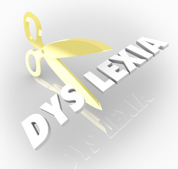 Dyslexia Words Scissors Cutting Reading Condition Disability