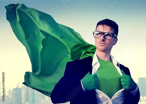 Superhero Businessman New York Concept - 76868392
