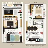 interior design concept one page website