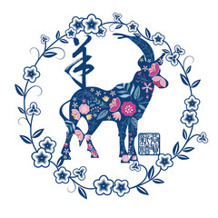 Chinese new year paper-cutting card design