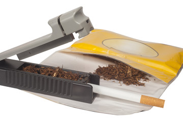 rolling of cigarettes