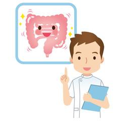 健康な腸 説明する医師