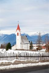 The rural church in small alpine village, Austrian
