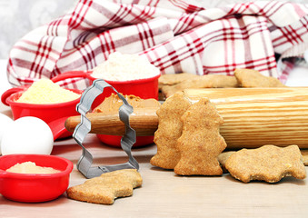 Homemade Dogs Biscuits Shaped Like Fire Hydrants