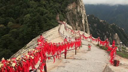 Way to the highest peak of Huashan mountains.