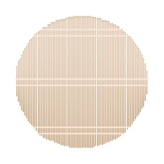 A Round Bamboo Mat on White Background