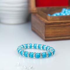 Swarowski Blue stretch Bracelet