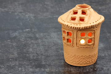 Cottage - lantern made of clay