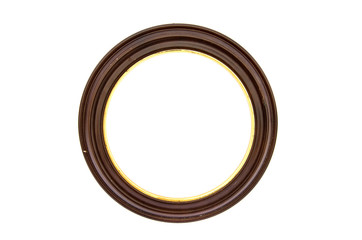 picture frame circle baget on  white background