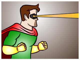 Superhero Laser Beam Vision