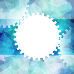 Gears White Symbol Background Teamwork Business; Eps10