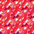 Abstract elegance seamless patchwork pattern texture background