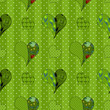 Abstract seamless patchwork pattern with hearts background