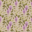 Seamless floral pattern background flowers ornament wallpaper te