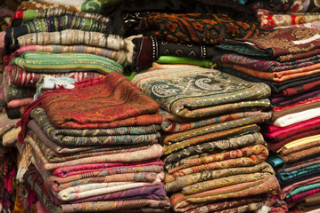 Scarves in an Egyptian Market