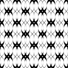 Black and white seamless pattern twist line style.