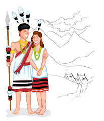 Happy Naga couple