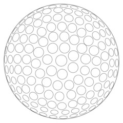 Golf Ball Line Drawing