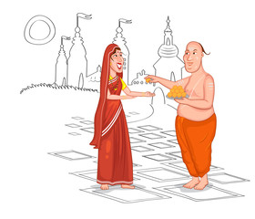 Brahmin Hindu couple