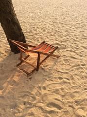 sunbed at beach