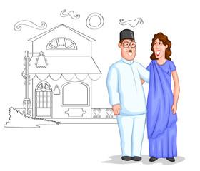 Happy Parsi couple