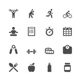 Fototapety Fitness icons