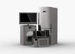 3d  Home appliances.