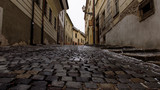Street of the old town in Bratislava, Slovakia. - 76878101