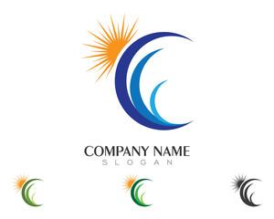 C water wave Logo