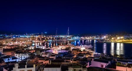 Night Ibiza panorama
