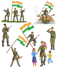 Indian army showing victory of India