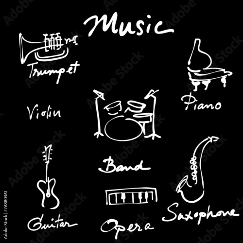 Music instruments - 76880361