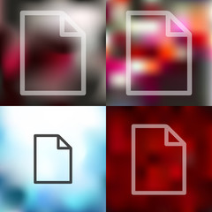 paper icon on blurred background