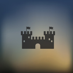 fortress icon on blurred background