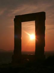 Apollo Temple at sunset, Naxos island, Greece