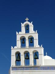 Bell church of Orthodox Church, Santorini, Greece