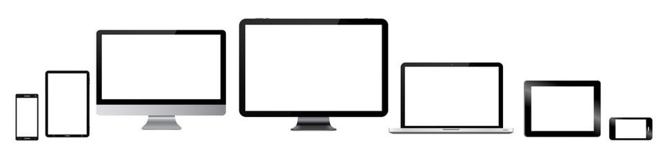 Modern digital tech device collection