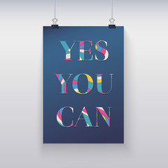 Poster hanging on the wall. Yes, you can