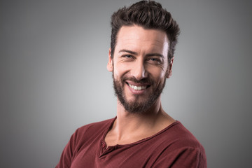 Cheerful man portrait