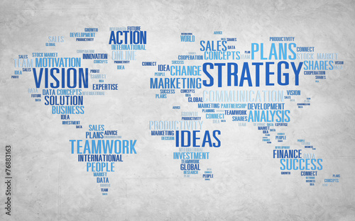 Fototapeta Strategy Analysis World Vision Mission Planning Concept